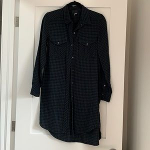 Aritzia Wilfred Free Long Flannel Shirt